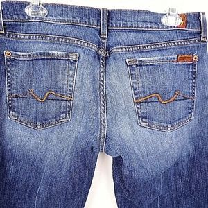 7 For All Mankind Jeans - 7 For All Mankind Women's Jeans Flare Medium Wash